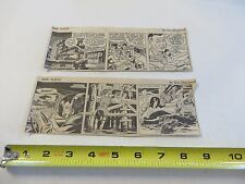 Lot of 5 DAN FLAGG Daily Strips 1964 by Don Sherwood