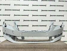 SKODA SUPERB 2015-2016 FRONT BUMPER WITH PDC HOLES IN WHITE GENUINE [S50]