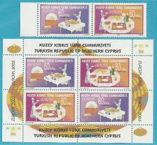 Türkisch-Zypern aus 2005 ** postfrisch MiNr.618-619 + Block 23 - Gastronomie!