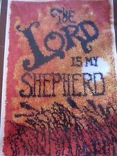 Latch Hook Rug Kit MCM Vtg Mid Century 70s Lord My Shepherd Shag Art Mod NEW!
