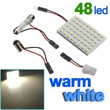 48 SMD Warm White Panel Led Car T10 BA9S Festoon Dome Interior Lamps Bulb Light