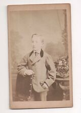 Vintage CDV Unknown Young Boy Photo by Napoleon Syrus London