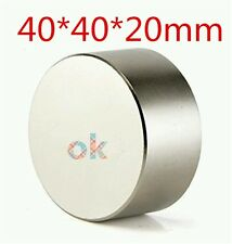 Super Powerful 1pcs Bulk big Round NdFeB Neodymium Disc Magnets N52 D40X20mm