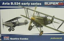 Avia B.534 early,Quattro Combo, Eduard ,1:144, Plastik, 4 Modelle, Luftwaffe,Neu