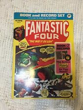 FANTASTIC FOUR BOOK and RECORD SET, The Way It Began POWER RECORDS PR13 1974: