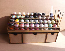 Paint Stand 40 pot rack Deep storage draws Workshop Warhammer Wargame paint GW
