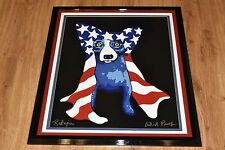 George Rodrigue Blue Dog My Security Blanket Silkscreen Print  Signed Artwork