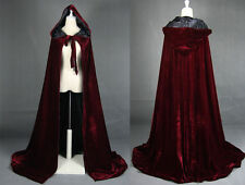 2017 Cloak Hooded Velvet & Satin Cape Renaissance Clothing Medieval Costume