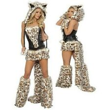 Sexy Damas Mujer Imitación Leopardo Gato León Fancy Dress Costume/Traje Talla 4 6 8
