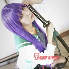 HighSchool of the Dead Busujima Saeko cosplay costume wig
