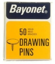 Drawing Pins 50 Solid Head Brassed Drawing Pins Stationery Pins
