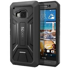 Poetic Revolution Heavy Duty Complete Protection Case for HTC One M9(2015) Black