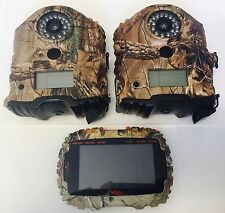 (2)1946 (1)1958 Used Wildgame i8B IR Game Camera 8MP VU50 Card Viewer Combo