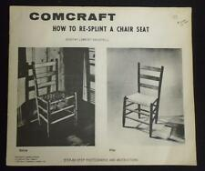 Comcrat How To Re-Splint A Chair Seat Brightbill 1958 Paperback Free Shipping