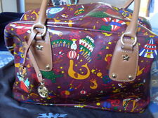 """PIERO GUIDI"" MAGIC CIRCUS BORSA VERNICE LUCIDA BORDEAUX + SACCO ANTIPOLVERE !"