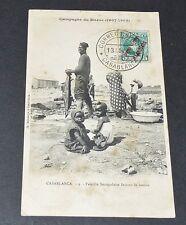 CPA 1908 COLONIES FRANCE AFRIQUE MAROC GUERRE TIRAILLEUR SENEGALAIS LESSIVE
