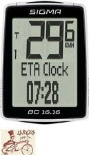 SIGMA BC 16.16 WIRED BLACK BICYCLE SPEEDOMETER COMPUTER