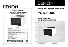 Denon POA-8000 Service & User Manual POA8000  POA 8000