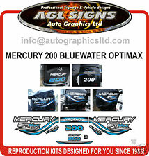 MERCURY 200  OPTIMAX BLUEWATER OUTBOARD DECAL SET 150 225