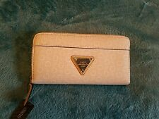 Guess Wallet, Blush  Silver Metal Trim Zipper Around, NEW with tags