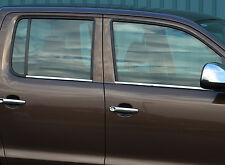 CHROME SIDE DOOR WINDOW SILL TRIM SET COVERS STEEL FOR VW VOLKSWAGEN AMAROK