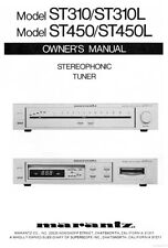 Marantz ST450L Tuner Owners Instruction Manual