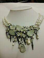 NWT ERICKSON BEAMON ROCKS STUNNING  PEARL CLUSTER STATEMENT NECKLACE