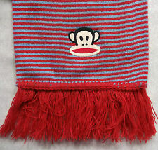 PAUL FRANK ORIGINAL RED BLUE STRIPED LONG SCARF 2004 RETRO CLASSIC
