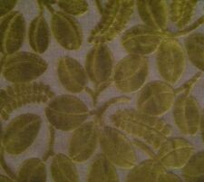 DESIGNERS GUILD Savio Calaggio Leaves Raised Velvet Green Remnant New