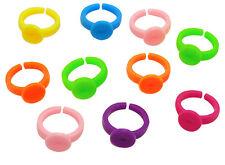 10 supports bague enfant en pvc 14 mm multicouleur,perles,fimo -br028