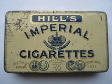 CWW1 VINTAGE HILL'S IMPERIAL CIGARETTES 50 SIZE TIN