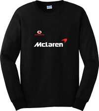 Vodafone Mclaren Car Sport Black Long Sleeve T-Shirt Men or Women Distro