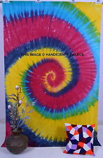 Tie dye Tapestry Throw Psychedelic Indian Wall Hanging Hippie Mandala Bedspread