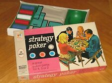 Strategy Poker Game sealed 1968 Milton Bradley USA layout mat chips card deck