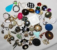 Vintage Clip-on Miss Match Beads Stones Jewelry for Parts & Repairs - 1/2 lb