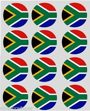 12 South African Flag Cupcake Toppers Ricepaper Africa Cake Decorations pre-cut