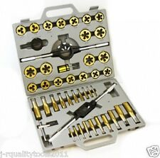 LARGE MM TITANIUM METRIC TAP AND DIE THREADING TOOL SET