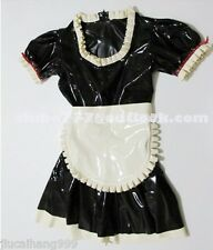100% Latex Rubbe Gummi .48mm Maid Dress Skirt Catsuit Suit Party Fashion Costume