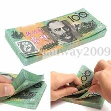 100Pcs/Pack 100 AUD 1:1 Paper Money Australian Notes Training Learning Banknotes