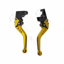 Gold CNC Shorty Brake Clutch Hand Levers Set Yamaha FZ1 FZ6 FZ07 FZ8 FZ09 XJ6