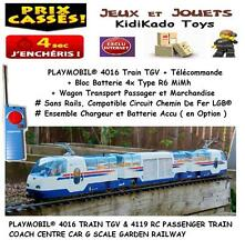 PLAYMOBIL® 4016 TRAIN TGV RC + 4119 WAGON PASSAGER # Custom Accessoire LGB ☆ 1☆