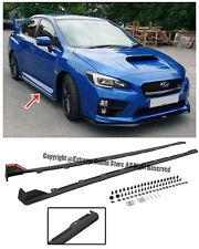 For 15-Up Subaru Impreza WRX STi JDM Style Rocker Panels Side Skirts Extension
