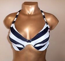 Striking Quality Lined & Underwired Halterneck  Bikini Top Size 36DD/E Cup -BNWT