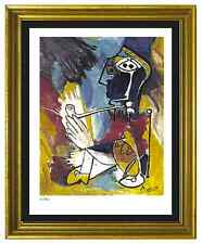 "Pablo Picasso Signed/Hand-Numberd Ltd Ed ""Man with Pipe""  Litho Print (unframed)"