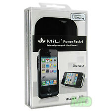 MiLi Power Pack 4 Extended Battery Case Verizon iPhone 4 3000mAh Black Retail