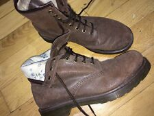 Dr Martens Uk 8/42 Vintage Look Brown Boots Floral Lining