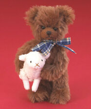 "BOYDS BEARS MINI MOHAIR TEDDY BEAR w/ LAMB  ""MONROE"" 4021526 * FREE SHIPPING"