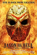 Friday the 13th Jason Back From Hell The Final Friday Poster Print 11x17