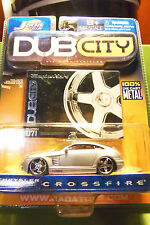 Muscle Machines Dub City Chrysler Silver Crossfire 5 Star Silver Rims C More!