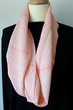 "S32 SALE! SILK SHIBORI ""TWISTR"" LOOP ;PEACH/WHITE;BY HUXTABLE ;ONE-OFF;SOFT"